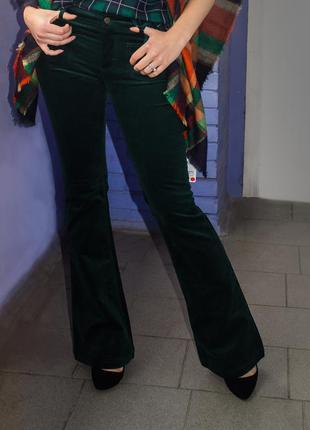 Штаны, клеш, брюки, стильные штаны, штанишки, зеленые штаны, zara