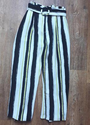Кюлоты женские брюки широкие штаны клёш летняя осенняя весенняя зимняя распродажа лот коллекция полосатые