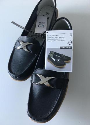 Мокасины , туфли натуральная кожа бренда tom&rose.