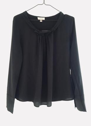 Vip бренд laurel escada max mara massimo 100% шикарная шелковая блузка свободного кроя