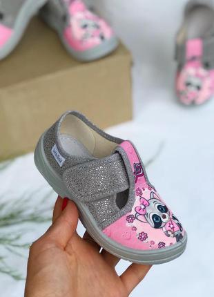 Тапки, тапочки для дівчинки, тапки для девочки, waldi, валди, макасіни, взуття для садочку, босоніжки