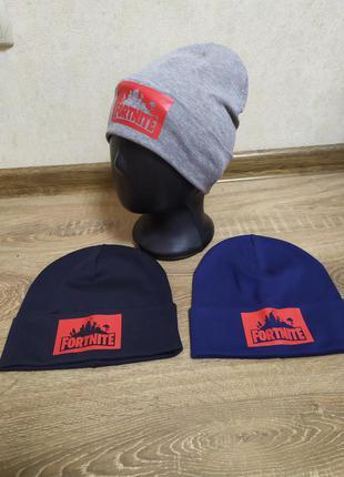 Двойная трикотажная шапка 50/52 размер