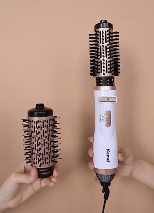Фен браш для волос kemei