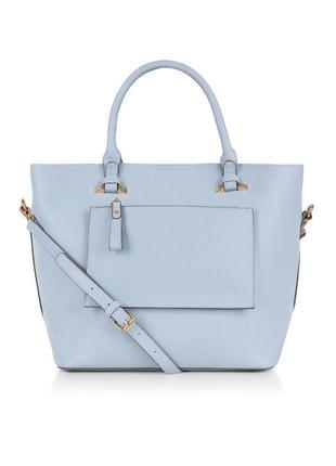 Большая сумка шоппер accessorize небесно голубого цвета