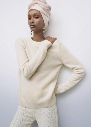 Кашемировый свитер zara