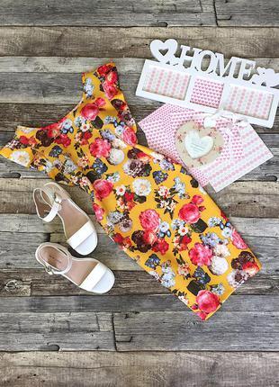 Классное облегающее цветочное платье  luc&ce