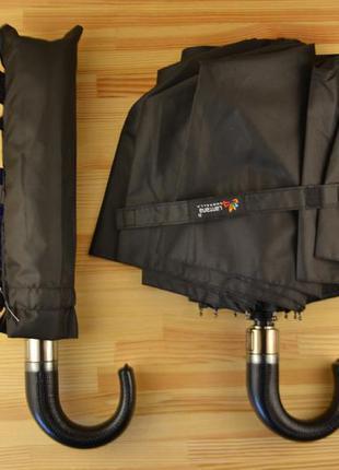 Зонт 120 см купол с кожаной ручкой зонтик автомат / парасоля парасолька складна
