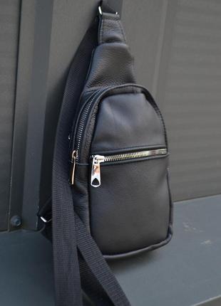 Кожаная сумка натуральная кожа / месенджер барсетка слинг