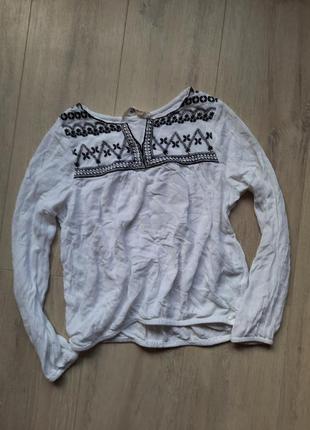 Блуза блузка белая в гколу для девочки школьная одежда