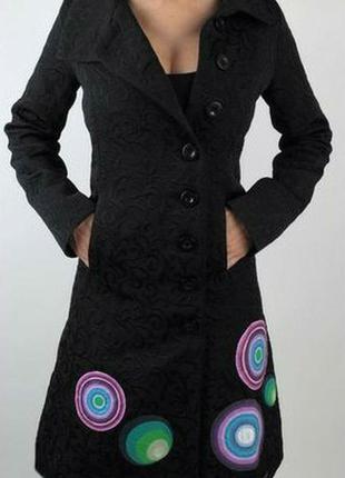 🌺демисезонное пальто из фактурной ткани🌺