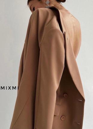Эффектный удлиненный двубортный пиджак/платье/жакет с поясом4 фото