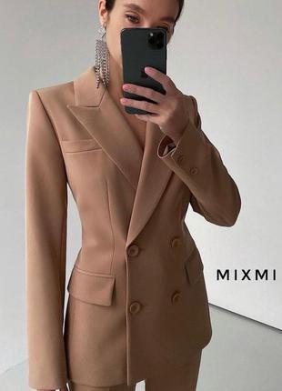 Эффектный удлиненный двубортный пиджак/платье/жакет с поясом3 фото