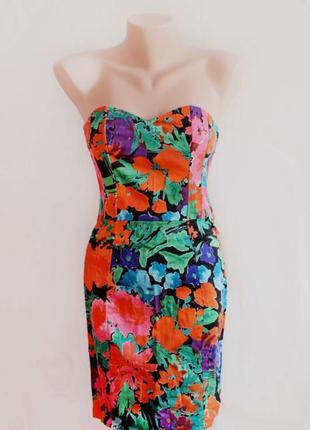 Красивое женское платье в цветочный принт h&m