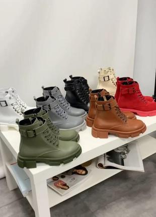 Кожаные ботинки, размер 35-41