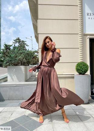 Волшебной красоты шёлковое платье на запах.