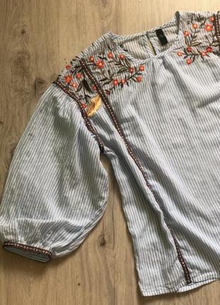 Блуза с вышивкой этно yas