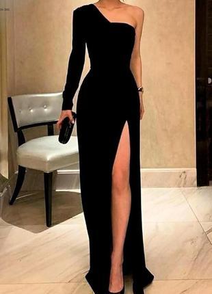 Шикарное вечернее платье с разрезом