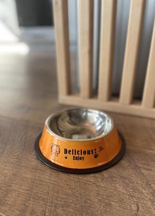 Миска delicious металева для собак та кiшок