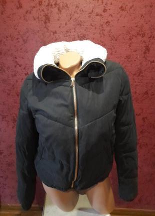 Куртка бомбер осенняя теплая курточка primark