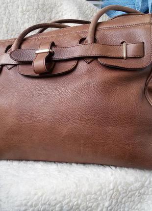 Большая  кожаная  сумка италия 100% кожа