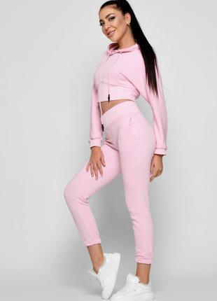 Спортивный костюм 48 размер, розовый костюм , костюм для спорта , кофта и брюки