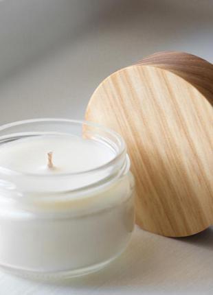 Натуральная аромасвеча ручной работы премиум качества 20 ч горения