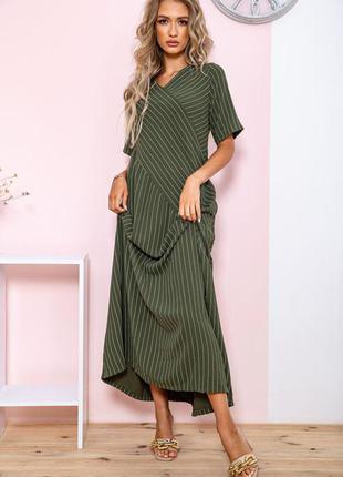 Женское платье батал в полоску