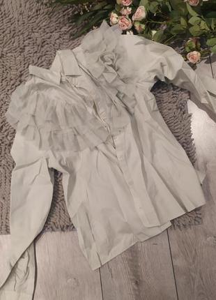 Блуза с сеткой