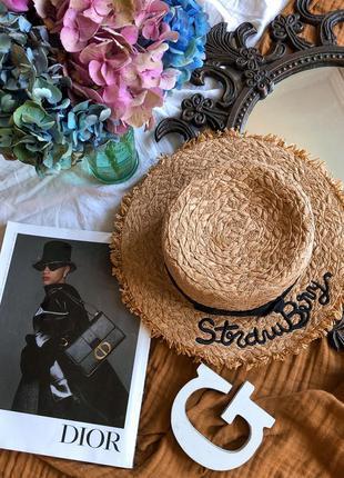 Солом'яний капелюшок, канотьє/ соломенная шляпа канотье