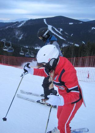Лыжный костюм + перчатки