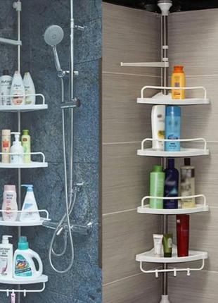 Угловая металлическая полка для ванной комнаты стойка держатель multicorner