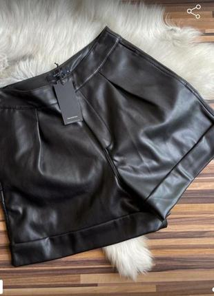 Новые кожаные шорты с биркой от reserved