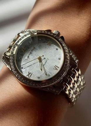 Женские кварцевые часы на браслете под золото с бабочками +подарок ❤️