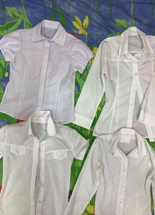 Блузи шкільні на дівчинку в асортименті