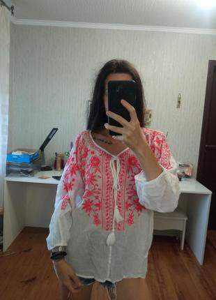 Батистовая блуза вышиванка