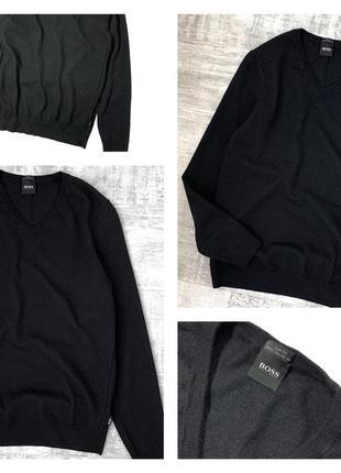 Шерстяной свитер джемпер hugo boss 100% шерсть