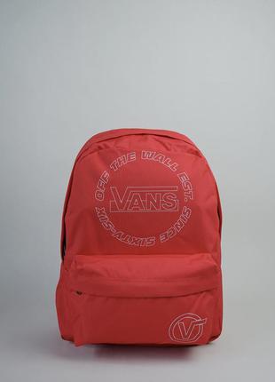 Великий червоний рюкзак vans, оригінал, новий