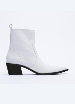 Кожаные ботильоны ботинки сапоги от zara оригинал новые 2021