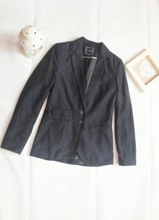Удлиненный классический пиджак жакет с карманами