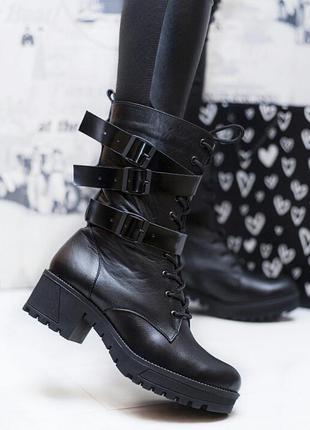 Размеры 36-40. зимние сапоги ботинки из натуральной кожи