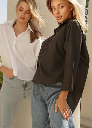 Чёрная базовая рубашка