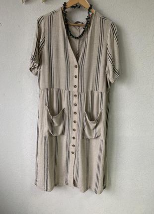 Плаття льон