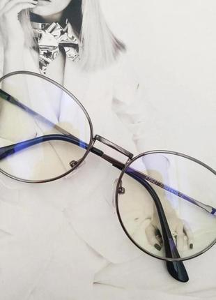 Компьютерные очки в графитовой металлической оправе
