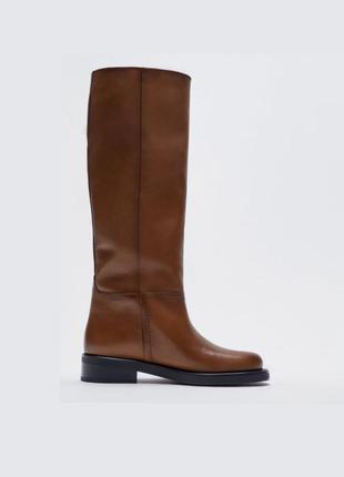 Кожаные сапоги ботинки от zara оригинал новые 2021