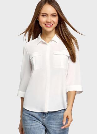 Белая рубашка oodji / белая блузка oodji