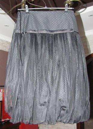 Нарядная  дизайнерская юбка из фатина  сетки 42-44