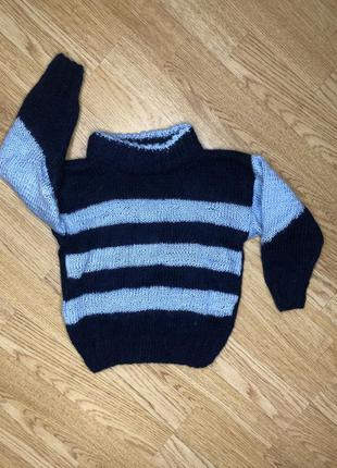 Вязаный свитер из шерсти на зиму, кофта вязаная
