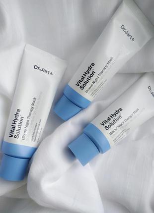 Увлажняющая ночная маска для лица с пребиотиками и гиалуроновой кислотой dr. jart+ vital hydra solution night therapy mask.