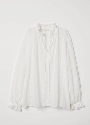 Стильная белая блузка вышиванка h&m ❤️
