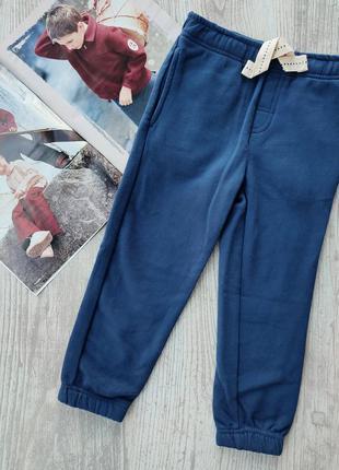 Спортивные брюки плотные на флисе, штаны